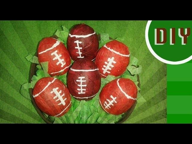 DIY: Mini football de cascaron de huevo