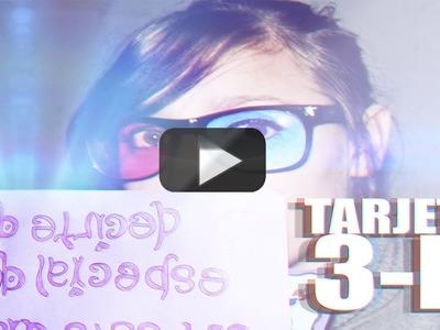 DIY Tarjeta de cumpleaños en 3D!! mArtesanias Facil Y Rapido @yanibrilz