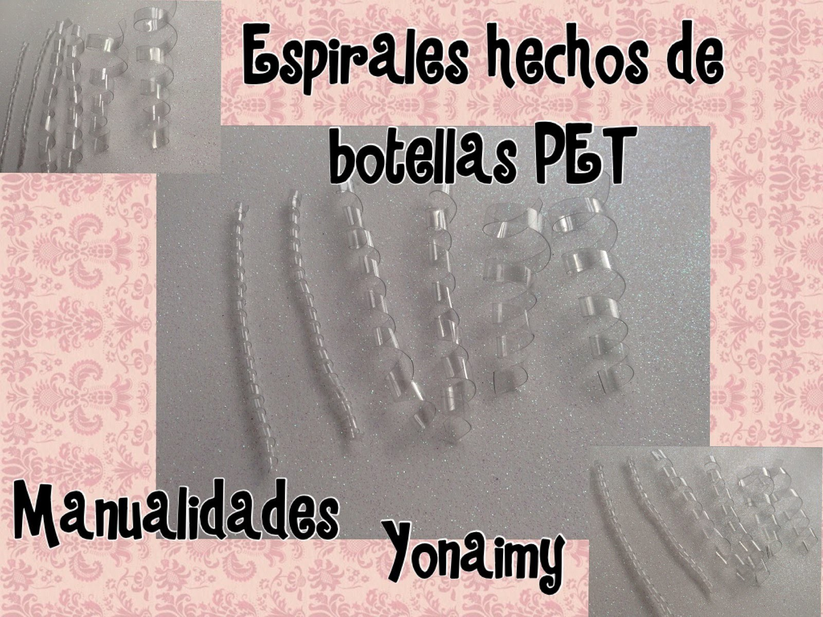ESPIRALES HECHOS CON BOTELLAS RECICLABLES PET