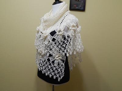 Flor # 14 Horquilla para Chal  Crochet
