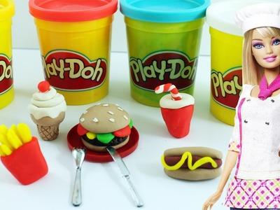 Manualidades para muñecas: Cómo hacer comida rapida para muñecas con Play-Doh