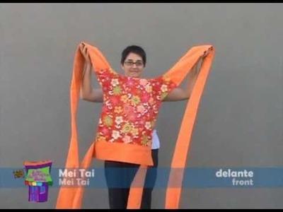 Mei Tai. Instrucciones de como ponerse un mei tai delante y a la espalda