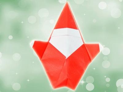 Origami de Papá Noel. Papiroflexia de Navidad
