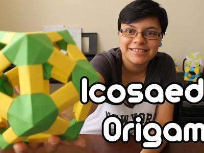 Origami Icosahedron. Icosaedro De Origami ¡TUTORIAL!