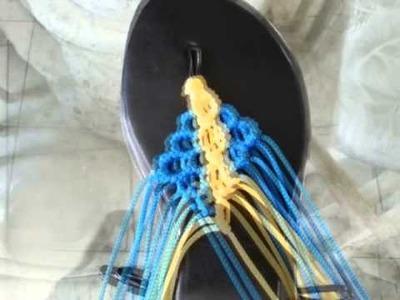 Sandalia hechas a mano con tecnica de macrame (trigre-sandalia)