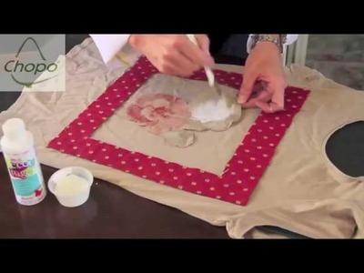 Sigue la scrapmanía! Cómo reciclar una camiseta con retales