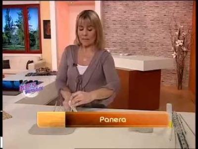 Silvina Buquete - Bienvenidas TV - Realiza en Cestería una Panera.