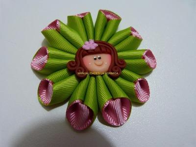 Tutorial flores  cono para el cabello combinada paso a paso video 281 Manualidadeslahormiga