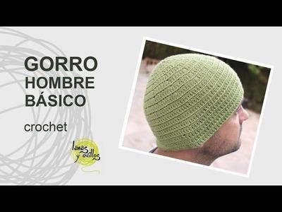 Tutorial Gorro Hombre Fácil a Crochet o Ganchillo en Español