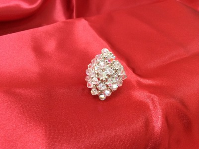 Tutorial paso a paso como hacer anillos con cristal Swarovsky