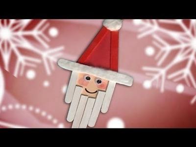 Un Papá Noel de decoración en Navidad, manualidades para niños
