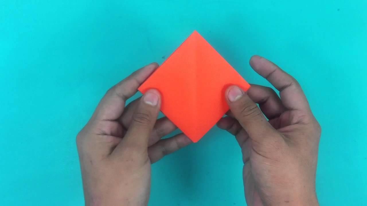 Botón de rosa de origami - Adornos de papel