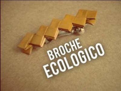 Broche ecologico para cabello [ Accesorio hecho con envolturas]