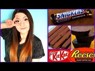 ¡Haz tus propios chocolates Snickers, Kitkat y Reese's fácil! - Raiza Revelles