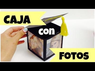 Caja para regalo,cubo con fotos,regalo para graduación fácil,original.