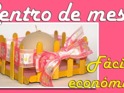 Centro de mesa facil y económico. Comunión, bautizo o boda. - DIY - Easy and inexpensive centerpiece