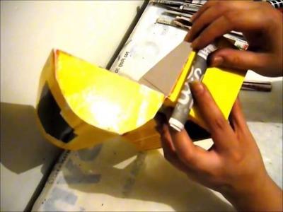 Cofre.Baúl hecho con periódico, cola blanca y café soluble parte 1.2