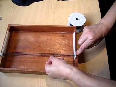 Como colocar los hilos en telar casero (DIY)