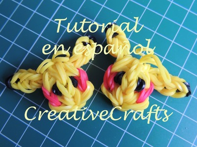Como hacer a Pikachu de gomitas ( ligas ) Rainbow Loom Pikachu.