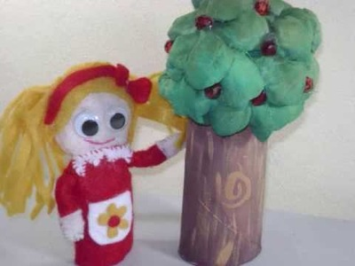 Como hacer un árbol con papel higiénico