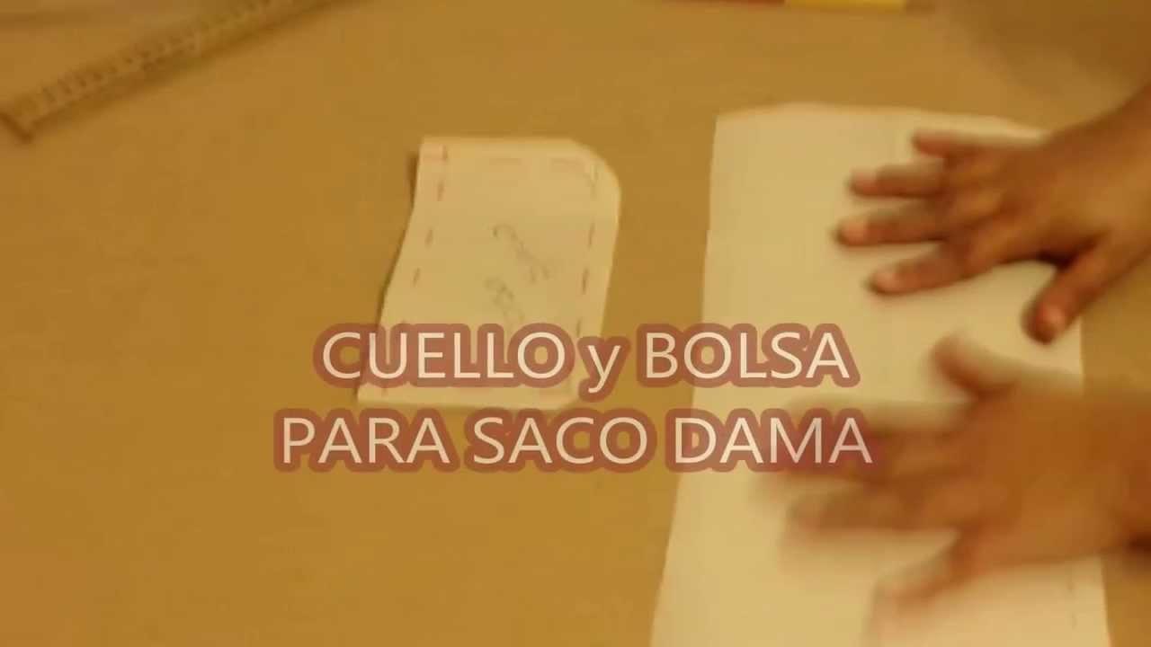 CUELLO Y BOLSA SACO DAMA