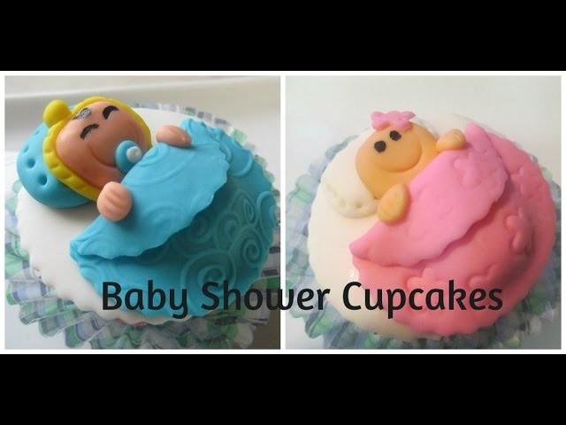 Cupcakes Para Baby Shower Tiernos y Muy Faciles De Hacer - Madelin's Cakes