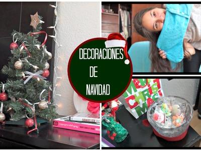 Decorando mi cuarto para Navidad + DIY Decoraciones ❅ ♡
