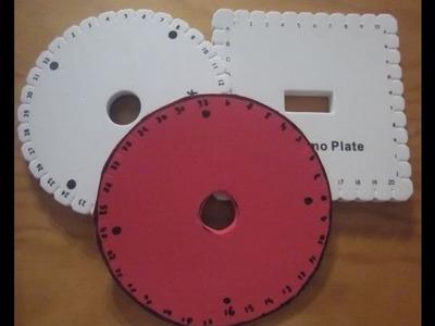 Discos redondo y cuadrado de Kumihimo, con patrones para descargar.
