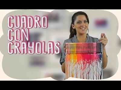 DIY - Decora tu habitación con un Cuadro con crayolas derretidas