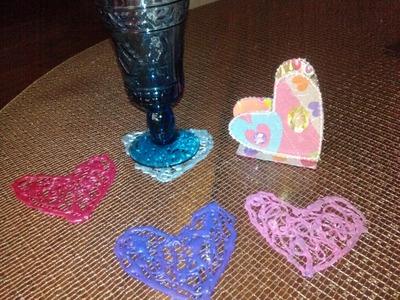 DIY Posavasos romanticos.Romantic  Drink Coasters