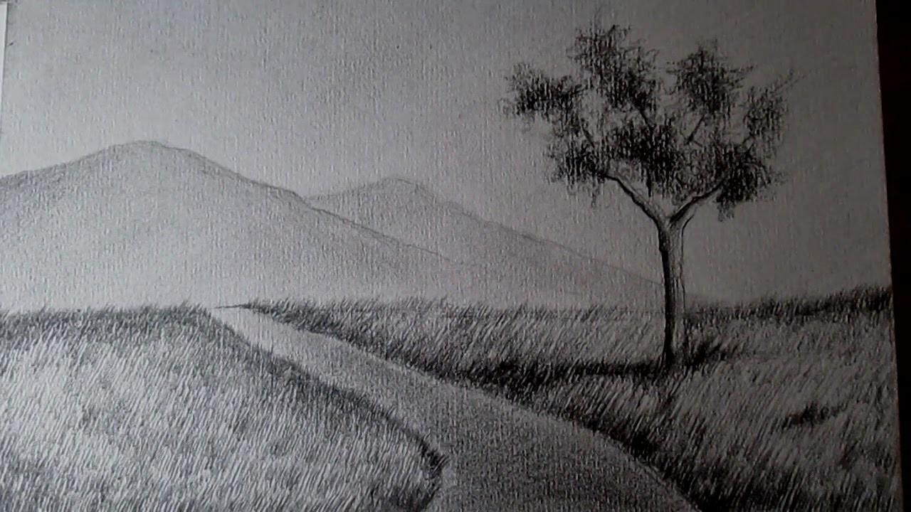 El paisaje m s f cil del mundo c mo dibujar paisajes a l piz paso a paso - Casas dibujadas a lapiz ...