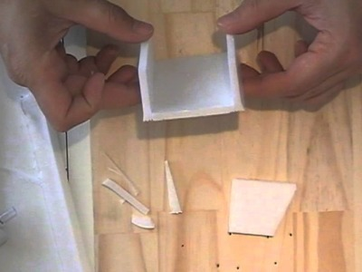 Hacer cajitas con bandejas de porexpan