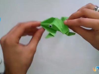 Hacer una rana de papel que salta