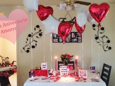 Ideas de decoracion para aniversario,cena romantica,etc