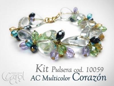 KIT 10059 Kit Pulsera AC multicolor corazon x und