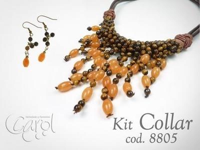 KIT 8805 Kit Collar cuero ojo de tigre