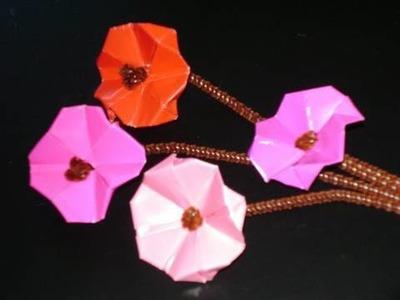 Manu-Gami Manualidades de papel:  flores de cerezos