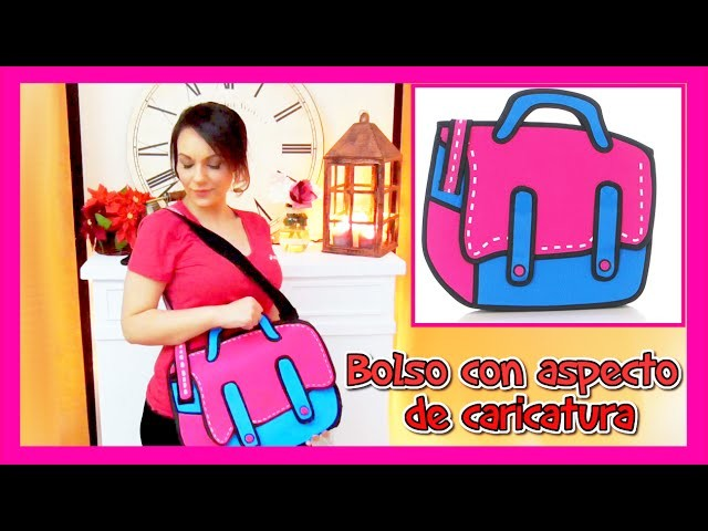 Manualidades DIY: Como se hace un bolso 2D de carticatura cartoon bag  Con foami - youtube- Isa ❤️