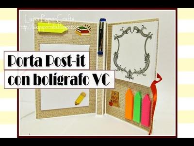 Porta Post-it con bolígrafo Video Colaboración con Jade Zamb C