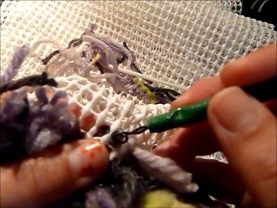Reciclaje : Hacer alfombra de lana .( make wool rug: recycling at home )