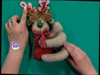 Silvia Nieruczkow  - Bienvenidas TV - Hace un reno en muñecos navideños.