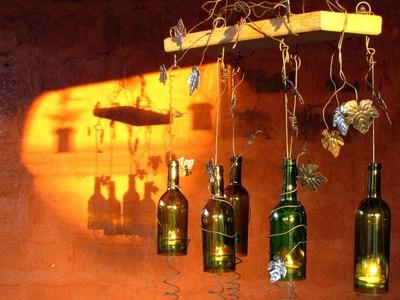 Sostenedor de vela hecho con botellas de vino recicladas Parte 2