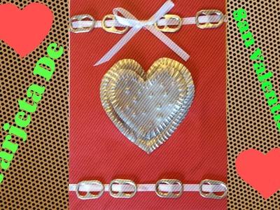 Tarjeta De Corazones Para San Valentin
