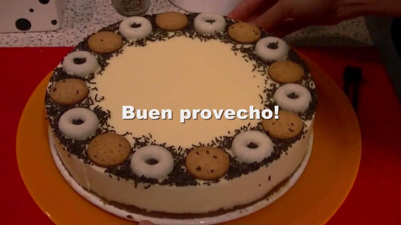 Tarta de queso y chocolate blanco - Recetas de postres para Thermomix