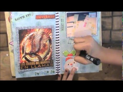 TUTORIAL SCRAPBOOK • Haz una pagina conmigo • December Daily ♥ SMASH BOOK ♥ 6