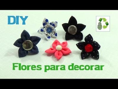 173. DIY FLORES DE TELA  [FACIL] (RECICLAJE DE TELA)