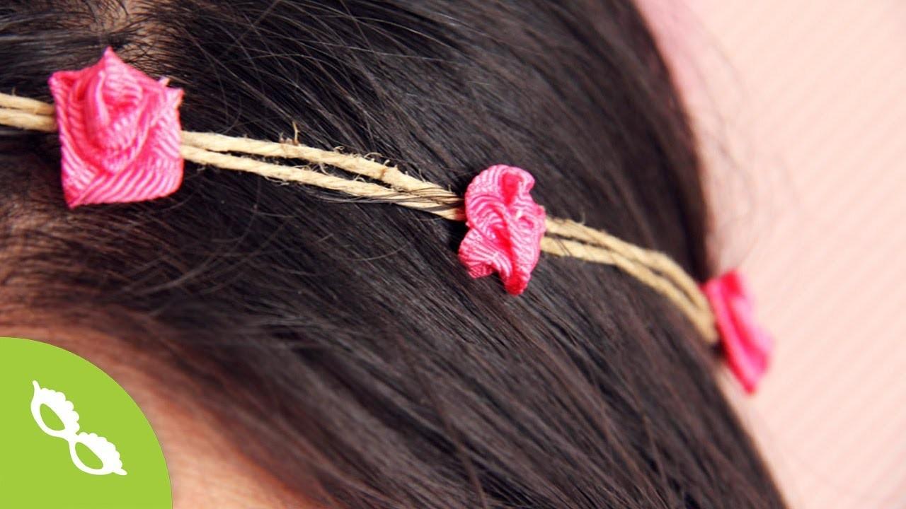 Accesorio Disfraz Hippie: Rosas de listón DIY