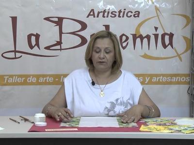 Activa Mujer 69  Decoupage en tela y cerámica