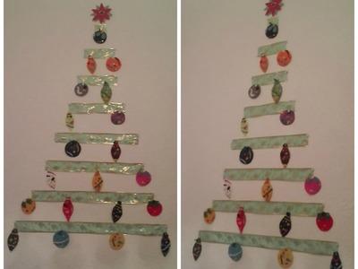 Árbol de Navidad para pared - Manualidad ❄ Navivlog 2014 ❄