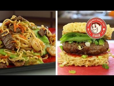 ¿Chow Mein y Hamburguesa de Maruchan? - El Guzii